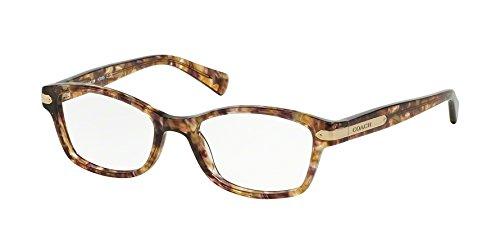 Coach Eyeglasses HC6065 6065 5287 Confetti Light Brown/Gold Optical Frame 49mm