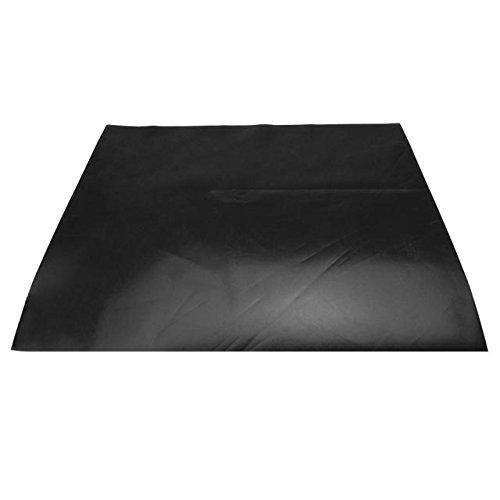 Tarp Repair Kit: 2'x2' Black Tarp Patch and Vinyl Cement