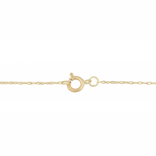 Kooljewelry Solid 14k Yellow, White or Rose Gold 0.7mm Thin Rope Chain (14, 16, 18, 20, 22, 24 or 30 inch)