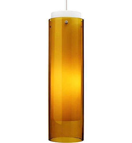 Echo Grande 1 Light Mini Pendant Finish / Shade / Bulb Type / Volts: Black / Amber / Fluorescent / - Fluorescent Pendant Amber Mini