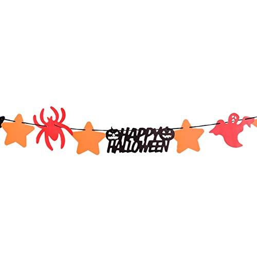 Willsa Happy Halloween Party Flag Household Children Room Decoration Terror Supplies]()