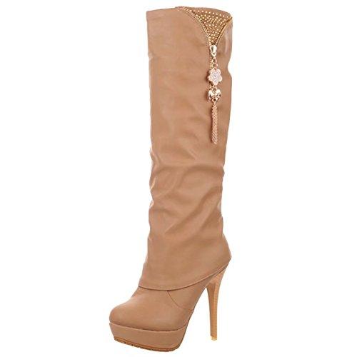 AIYOUMEI Women's Classic Boot apricot XuIrcb