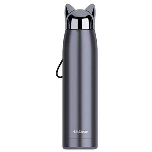 Coerni Sports Water Bottle, 320ML Fox Stainless Steel Cup In