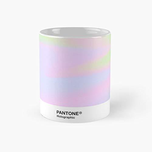H.I.P.A.B - Holographic Iridescent Pantone Aesthetic Background pt 4 Mug, holographic Gift Mug, Tea Cups, Funny Coffee Mug 11oz, Tea Mugs ()