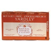 oisturizing Soap Natural Oatmeal and Almond 4 Ea by Yardley (Yardley London Natural Soap)