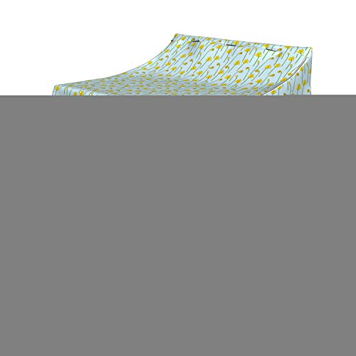 Ambesonne Flower Washer Cover, Simple Cartoonish Floral Pattern with Daffodils, Washroom Decor with Dust Protection, 29