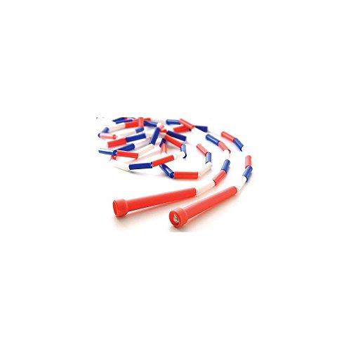 Segmented Skip Rope 9′ Red/White/Blue