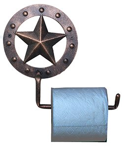 Metal Star Toilet Paper Holder Copper Finish well-wreapped