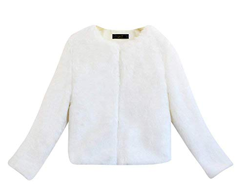 Larga Piel Outerwear Invierno Polares Modernas Huixin Sintética Mujer Chaqueta Blanco Piel Cardigan Termica Abrigos De Piel Corto Elegante Manga Chaqueta qwBz6wa