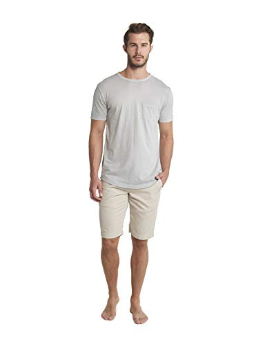 Barefoot Dreams Malibu Collection Men's Short Sleeve Pocket Crew Summer Shirts ()