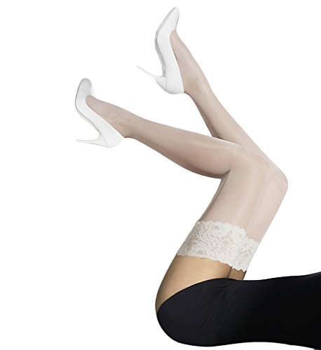 Wolford Satin Touch 20 Stay-Up - Mujer 20 Denier blanco