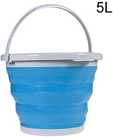 ZDST Eimer aus Kunststoff, faltbar, tragbar, mit Griff, für Küche, Camping, Garten, Gartenbewässerung, 5 l