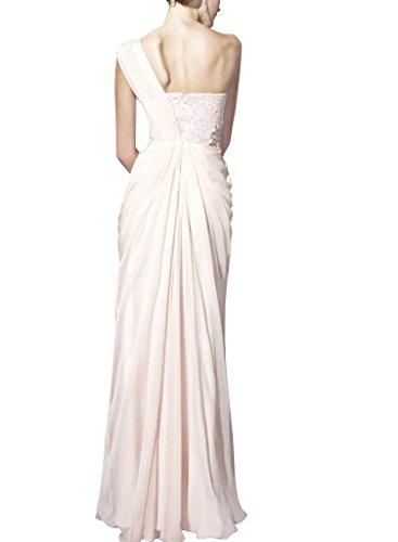 Spalte Abendkleid Mantel mit Elfenbein BRIDE Schulter GEORGE einer Applikationen Perlen bodenlangen Chiffon 1B77Ew