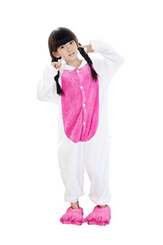 OUCHI Children Kids Cute Animal Hoody Halloween Cos Pajamas Romper Suit (Unicorn Pink ) (Couple Halloween Cos)