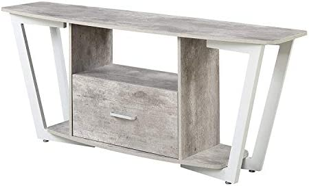 Convenience Concepts Graystone Stone TV Stand, 60 , Gray White