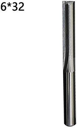 NO LOGO LT-Tool, 1pc Fräser 6mm / 4mm Schaft Zwei Flöten Gerade Fräser for Holz CNC Gerade Engraving Cutter Fräswerkzeuge (Größe : 4mm 22mm)
