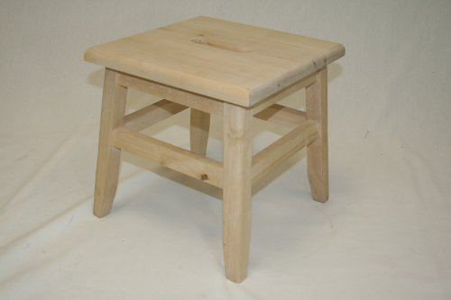 eHemco Hardwood Footstool--unfinished : unfinished wooden stools - islam-shia.org