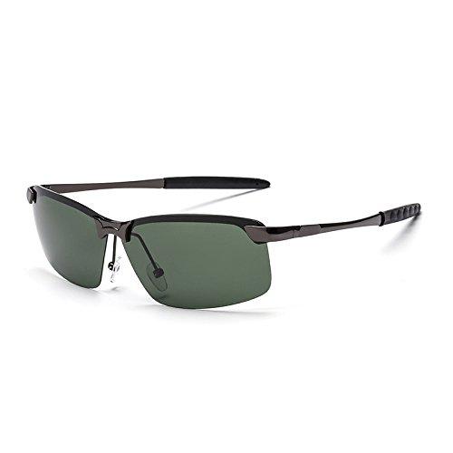 de Frog Gafas Mujer y Reflectantes Gun Sunglasses Gray de Green Mirror Sol Black Retro Gun Sol Color Gafas Box Black Box Gafas de clásicas Hombre qXXI6fwx
