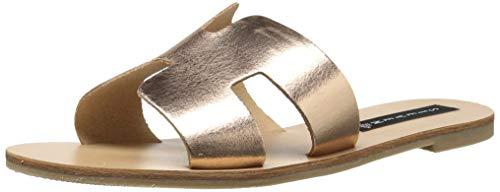 STEVEN by Steve Madden Women's Greece Flat Sandal, Rose Gold, 9.5 M US (Steve Gold Shoes Madden)