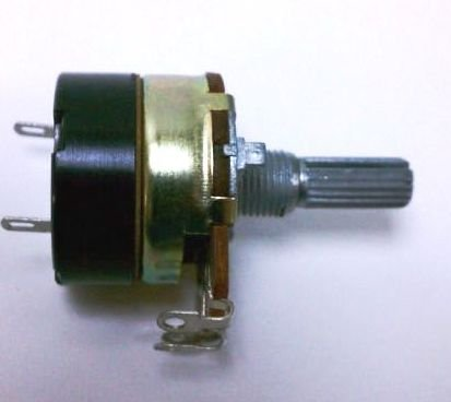 [Potentiometer 24mm B10k 10k pot w/ 5A AC on/off Switch] (Switch Potentiometer)
