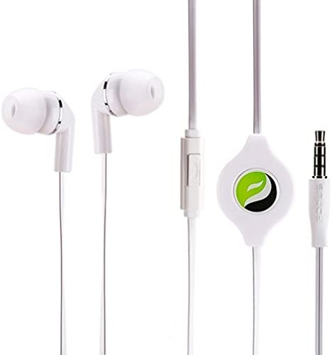 Amazon Com Hi Fi Sound Retractable White Headset Earphones Dual Earbuds Mic For Ipad Ipod Iphone 6 6s Plus 5s Samsung Galaxy Note8 Note 9 S8 S9 Plus S7 S6 Edge