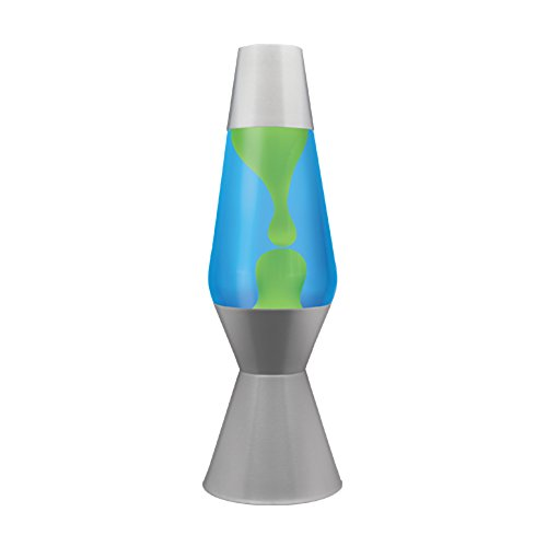 lava lamp yellow wax blue liquid - 8