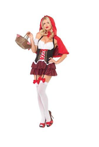 Red Riding Hood Costumes Ravishing Red Riding Hood - Ravishing Red Riding Hood Adult Costume