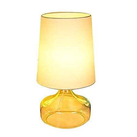 LXQGR Lámpara de Mesa de Tela de Vidrio Dormitorio Creativo ...