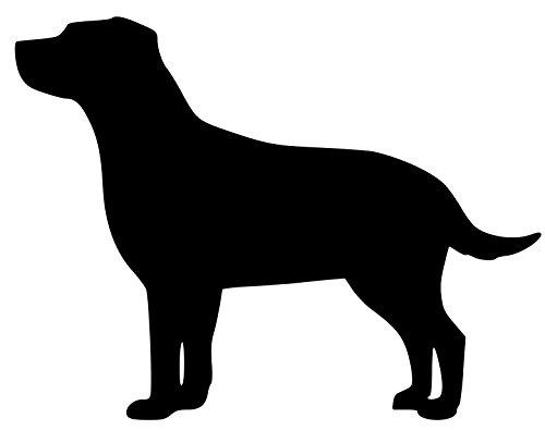 Sticker Black Lab (Minglewood Trading Labrador Retriever Dog Yellow Black Lab Vinyl Decal Sticker 5