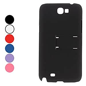 Simple Design Hard Case with Stand for Samsung Galaxy Note 2 N7100 (Assorted Colors) --- COLOR:Blue