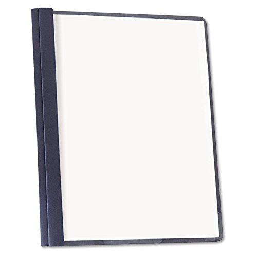 Universal 57122 Clear Front Report Cover, Tang Fasteners, Letter, Dk Blue, 25/BX