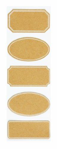 Martha Stewart Crafts Labels for Scrapbooking, Classic Kraft