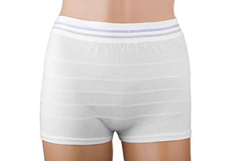 Women Mesh Postpartum Panties Washable Reusable Short Underwear Suitable for Post Surgical Recovery, Breathable, Stretchy, Light (3 Pack, M/L)