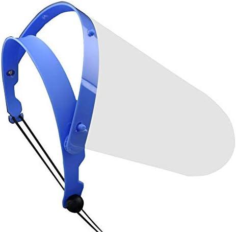 フェイスガード 保護シールド プラスチック製 3枚セット 調整可能 透明シールド 軽量 花粉 唾液 防砂 防風