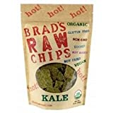 Brads Raw Foods Organic Hot Kale Chips, 3 Ounce - 12 per case.