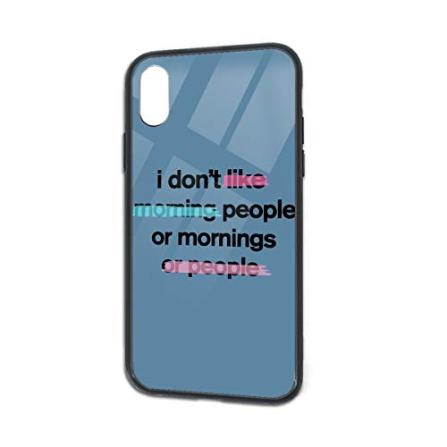 Shock-Absorption I Don't Like Morning People Soft Silicone TPU Phone Case for iPhone X iPhone Xs]()