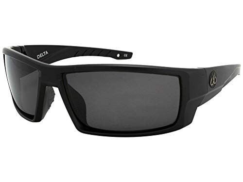 Filthy Anglers Delta Polarized Fishing Sunglasses Matte Black Wrap Around Frame Smoked Lenses 100% UV Protection