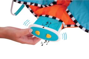 Bouncer offers vibrations and lullabies to soothe your baby to sleep