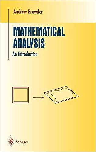 Mathematical Analysis: An Introduction (Undergraduate Texts