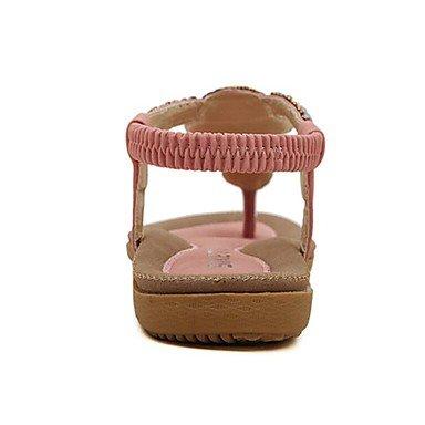 LvYuan Mujer-Tacón Plano Tacón Stiletto-Confort Suelas con luz-Sandalias-Vestido Informal Fiesta y Noche-Ante-Negro Azul Rosa Almendra Pink