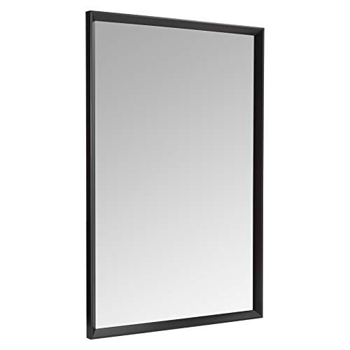 "AmazonBasics Rectangular Wall Mirror 24"" x 36"" - Peaked Trim, Black"