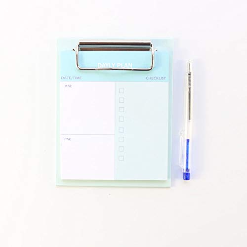 Memo Pad Cute Colorful Kawaii School Desk Writing Notes Set Stationery Weekly Daily Planner, Check List Memo Pad with Pen