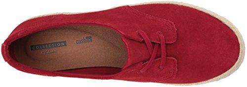 Wide Azella Jazlynn Clarks Us Sneaker Suede Red 11 Women's 6Hqw0