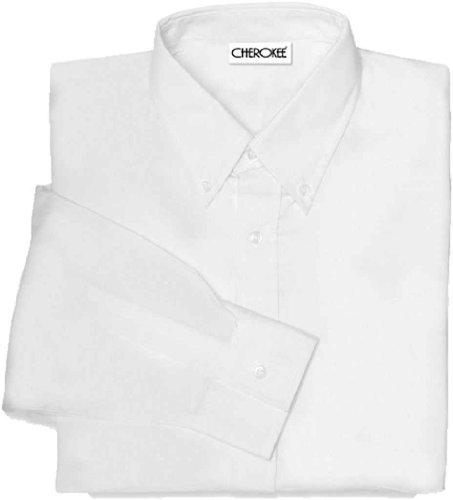 Sleeve Oxford Shirt, White, Large ()