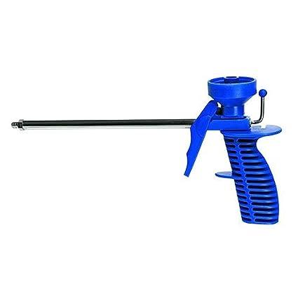 Pistola para espuma poliuretano cuerpo de plástico, mango ergonómico antideslizante. Con Tubo galvanizado.