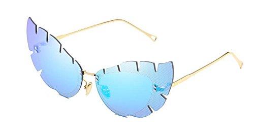 Cercle Glacier Style Inspirées Bleu Rond Soleil du Pour Steampunk Femmes Hommes Lunettes Polarisées et de Métallique en Retro tqTXSxwzP