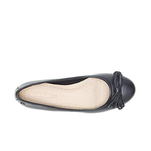 Punta Puppies Hush Heather Donna Bow Chiusa Ballet 000 Ballerine Black black XTFaxZqF