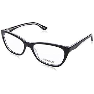 Vogue VO2961 Eyeglass Frames W827-51 - Top Black/Transparent VO2961-W827-51