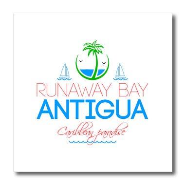 Decorative Images 3dRose Alexis Design T-Shirts Runaway Bay Caribbean Beaches Antigua Caribbean Paradise Text