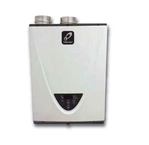 Takagi T-H3S-DV-N Condensing High Efficiency Natural Gas Indoor Tankless Water Heater, 8-Gallon Per Minute by TAKAGI